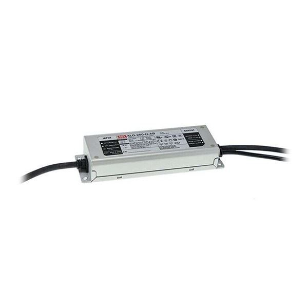 200W IP67 XLG Mean Well LED Driver 12V, with an IP67 metal case and two double insulated cables.