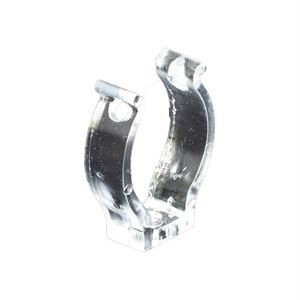 Terry Clip T8 Tube Holder Clear Polycarbonate
