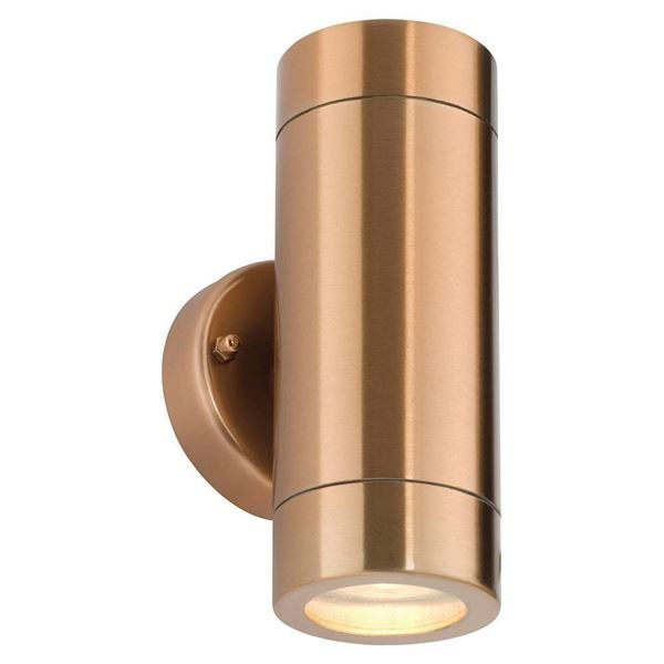 Outdoor Up and Down Wall Light IP44 Stainless - Copper