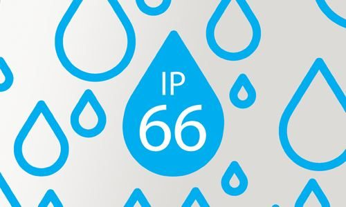 Blue water droplets line drawing graphic against a grey background
