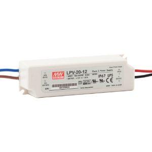 Mean Well LED Driver, LPV Range - 20W, IP67