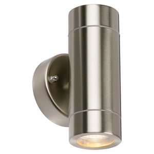Outdoor Up and Down Wall Light IP44 Stainless - Silver