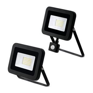 JCC LED Floodlight - 30W, PIR Optional, 4000K, IP65, Black ideal for security lighting and domestic outdoor applications