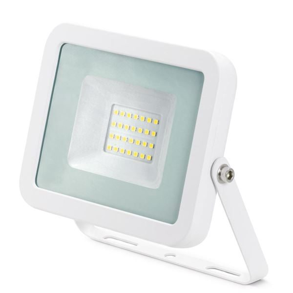20W LED Floodlight IP65 Aluminium 4000K White for domestic security lighting applications JC45202WH