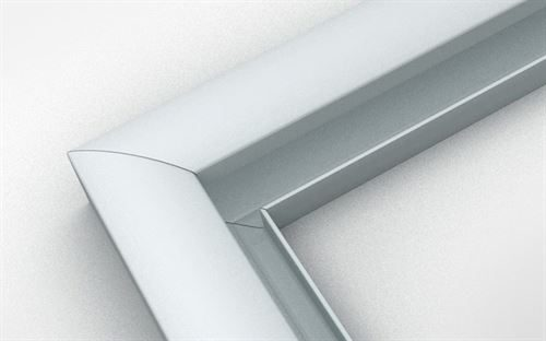 Signtrim extrusion used to fabricate a aluminium sign frames. Signtrim can be painted to any colour.