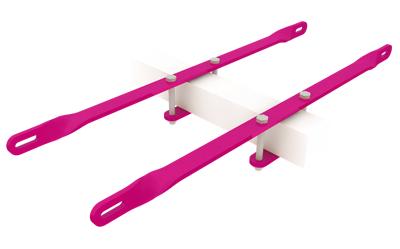 Steel Bar Pictorial Bracket Set for installing trough lights onto double sided illuminated signs