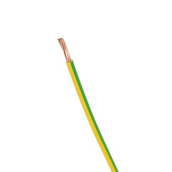 HO7V-R Green & Yellow Earth Cable Single Core 100m Roll